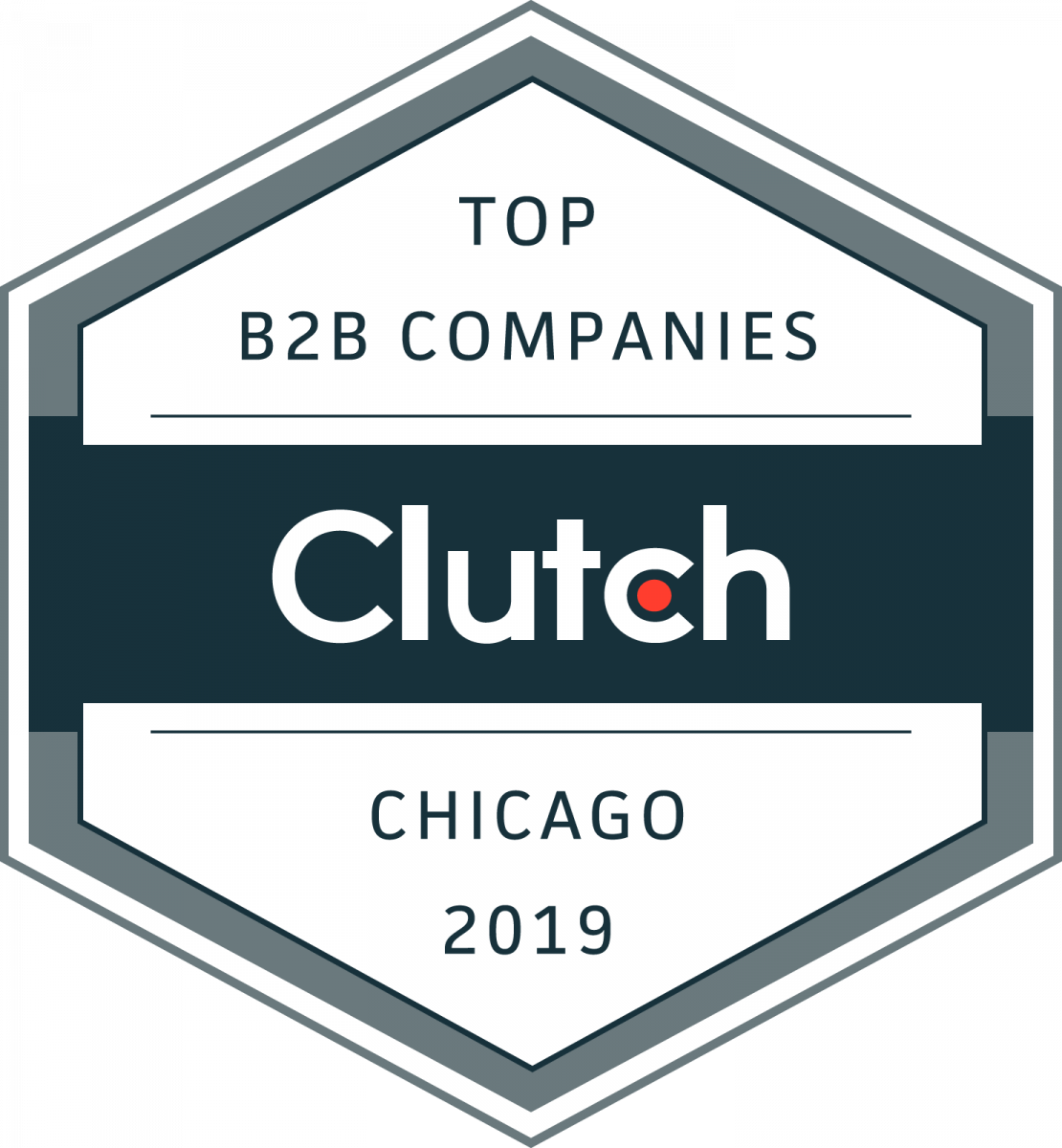clutch award for top b2b companies chicago 2019