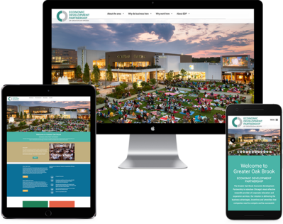 Economic Development Council Website on multiple displays