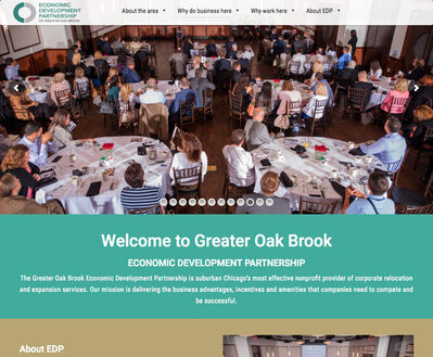 Economic Development Council Website on desktop