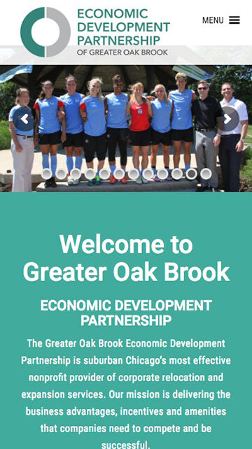 Economic Development Council Website on mobile