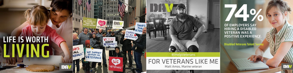 composite image of disabled veterans and families