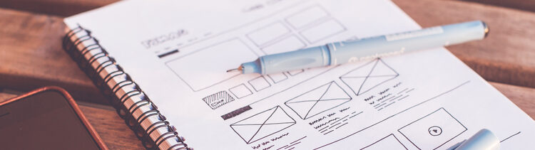 chicago web development wireframe sketch