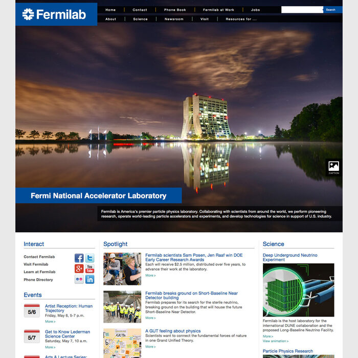 Fermilab screenshot
