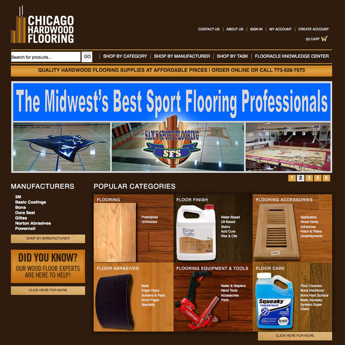 Screenshot of Chicago Hardwood Flooring desktop